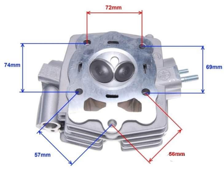 hengerfej szett ATV200 Loncin LC vízhűtés Quad